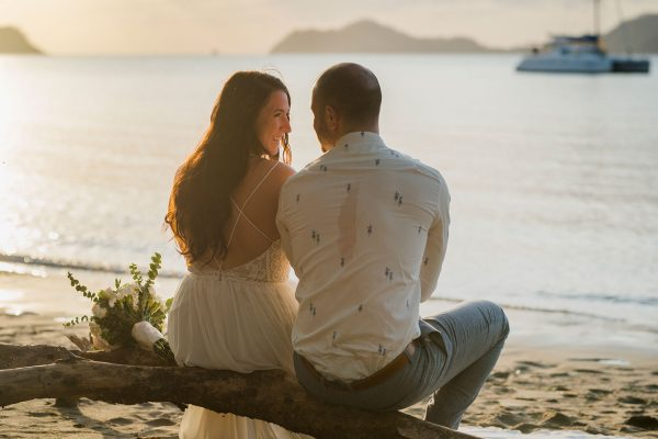 Joanna & Drew Costa Rica beach wedding