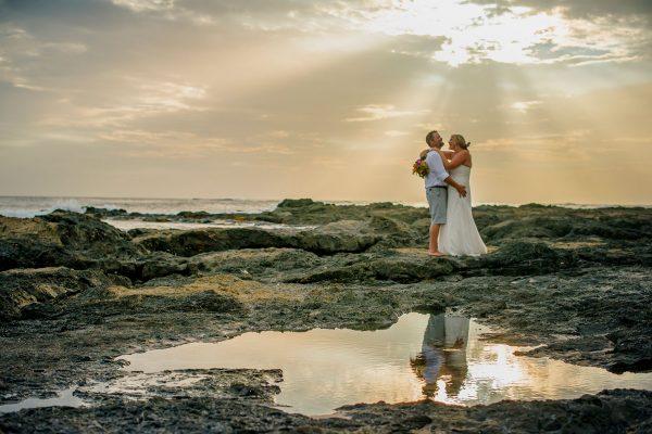 Hope & Jim Costa Rica beach wedding