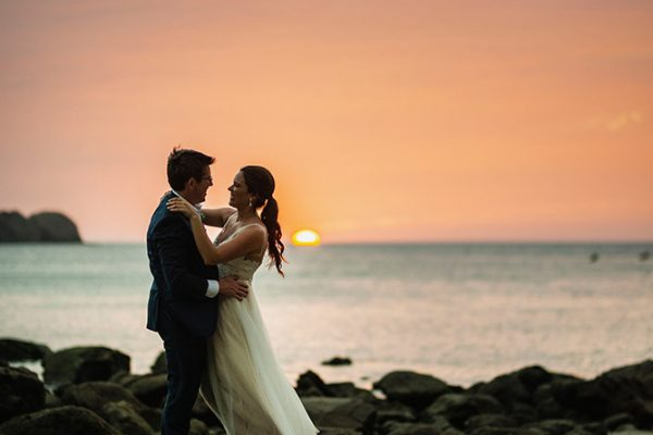 Emily & Ben Costa Rica beach wedding